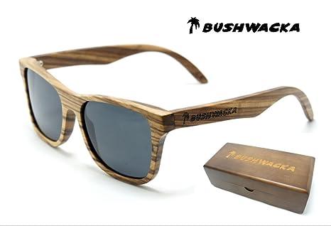 Nuevo Bushwacka Tiger-Reef Polarizado hecho a mano De madera Gafas de sol