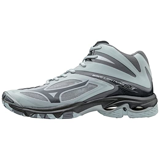 Amazon.com : Mizuno Wave Lightning Z3 Mens Mid Volleyball Shoes - Grey : Sports & Outdoors