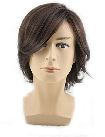 Amazon Com Topwigy Men Medium Style Short Layered Wigs Oblique