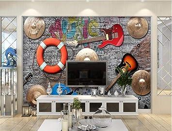 Dxbh Papel De Pared 3D Personalizado Música Bar De Moda Ktv ...