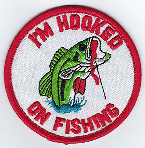 Craft Pro Hat - Hooked on Fishing Logo Embroidered Iron on or Sew on Patch