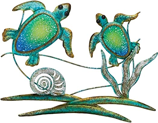 Regal Art Gift 12352 Double Sea Turtle Decor Wall D cor, Blue