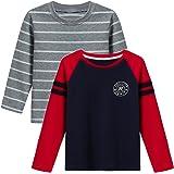 X-BAOO Camiseta de manga larga con diseño de coche para niños pequeños (1-6 años)