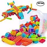 certainPL Bristle Shape 3D Building Blocks Tiles Construction Playboards Toys Toddlers Kids (120 PCS)