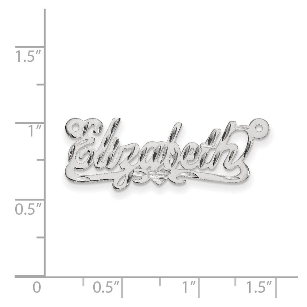 Sterling Silver Jewelry Pendants /& Charms .027 Gauge Polished Diamond-cut Name Plate