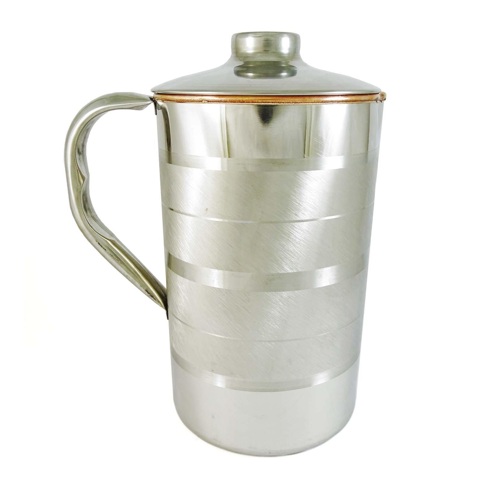ibaexports Tableware Traditional Serving Ayurvedic Copper Steel Kitchenware Water Jug by ibaexports (Image #3)
