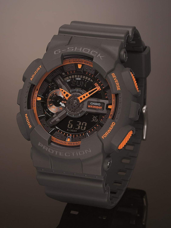 Casio Mens GA-110TS-1A4 G-Shock Analog-Digital Watch With Grey Resin Band