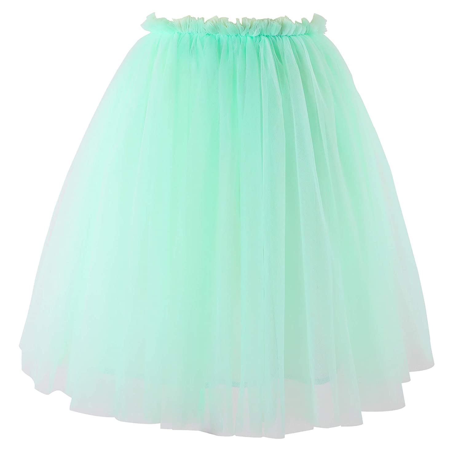 76662bc6d Amazon.com: Flofallzique Tulle Tutu Girls Skirt 1-12 Years Old Dancing  Party Toddler Skirt: Clothing