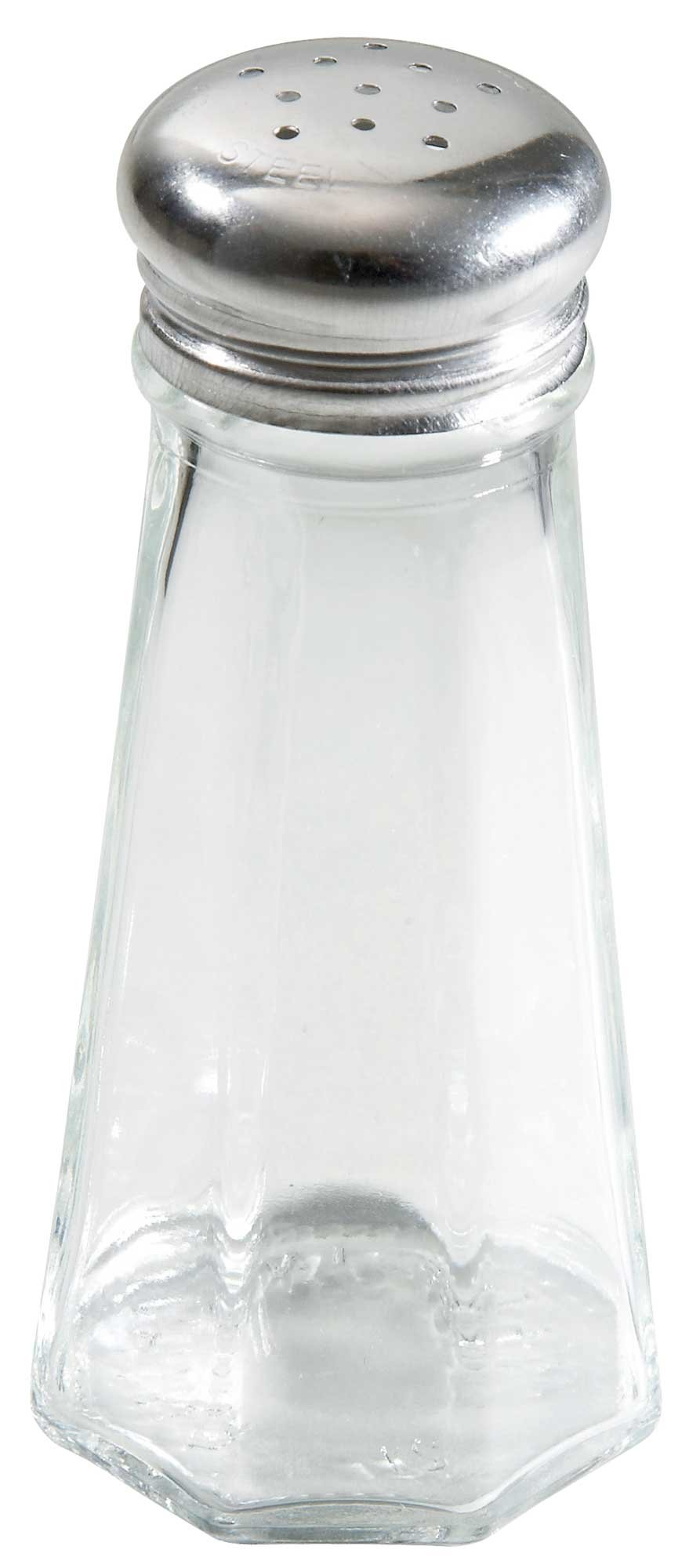 Winco 12-Piece Paneled Shaker with Mushroom Top, 3-Ounce