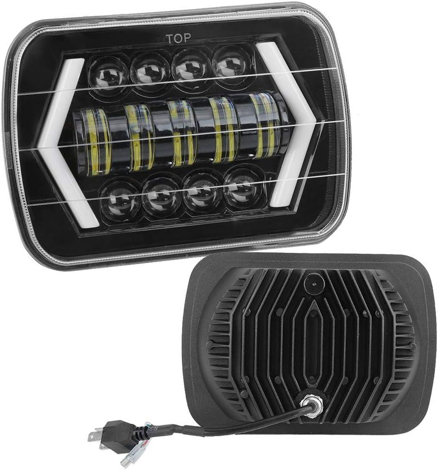 Faro anteriore Akozon Faro anteriore in alluminio Shell Quadrato Lampada frontale 300W 7in LED