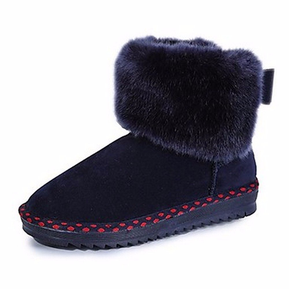 ZHUDJ Scarpe Donna Autunno Snow Stivali Stivali Chunky Chunky Chunky Chunky Stivali   e2f25d