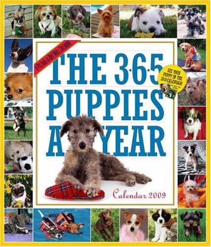 Calendar Year Wall 2009 (The 365 Puppies-A-Year Calendar 2009 (Picture-A-Day Wall Calendars))