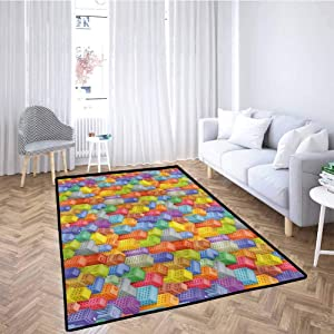 Circus Classroom Mat Rug Vintage Circus Tent for Play Area Playroom Bedroom