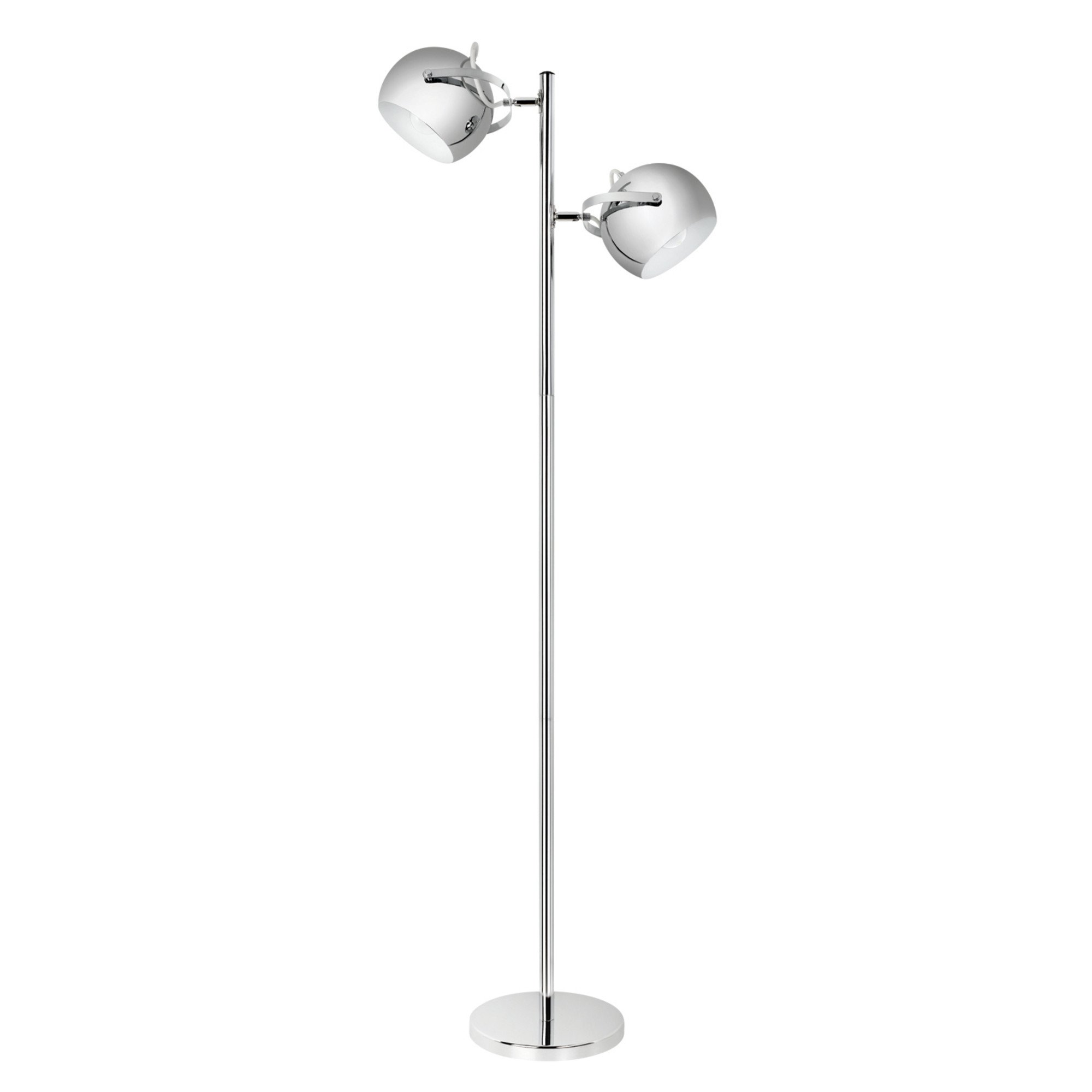 Globe Electric Miles 2-Light Adjustable Head Floor Lamp, On/Off Foot Switch, Chrome Finish, 12807 by Globe Electric (Image #1)