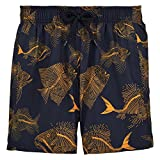 Vilebrequin Prehistoric Fishes Packable Swim Shorts - Boys - navy - 2Yrs