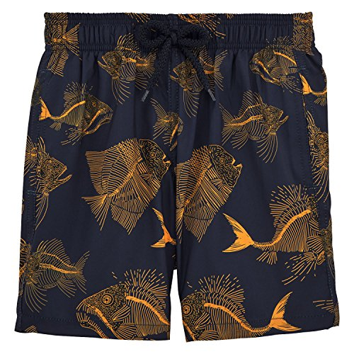 Vilebrequin Prehistoric Fishes Packable Swim Shorts - Boys - navy - 4Yrs by Vilebrequin