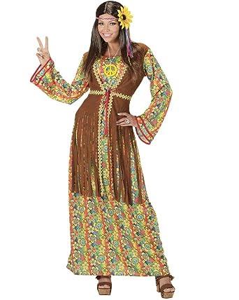 26134 Costume Carnevale 60 Donna Forti Vari Hippie Anni Ps Taglie TlcuKF1J35