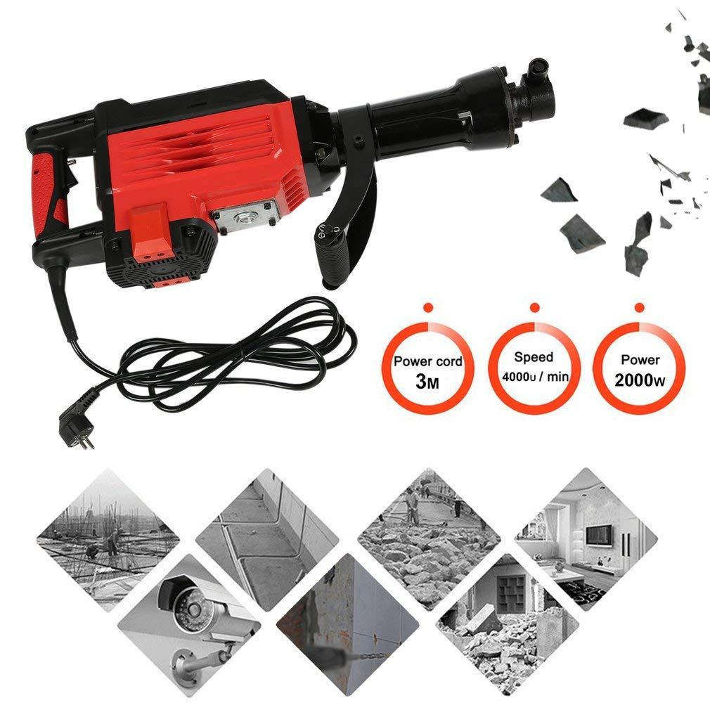 70 Joule Schlagkraft Rot 2000W Flachmei/ßel OLAS Abbruchhammer Schlagzahl: 4000U // min inklusive Spitzmei/ßel 2000 Watt