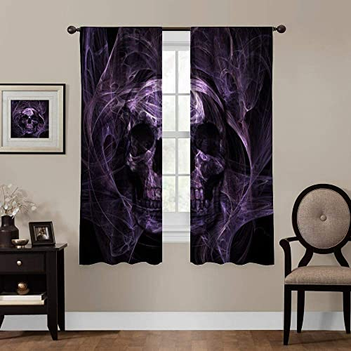 AngelSept Bedroom Room Perforated Grommet Curtain