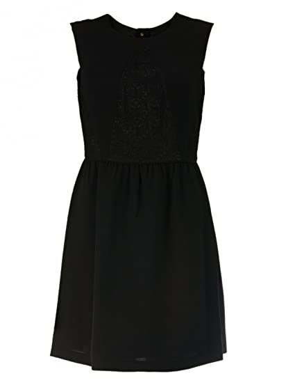 8445bba81a6e Hoss Intropia Damen Mini-Kleid mit Spitze, Größe 42 (Hersteller Größe  44) Farbe Schwarz  Amazon.de  Bekleidung