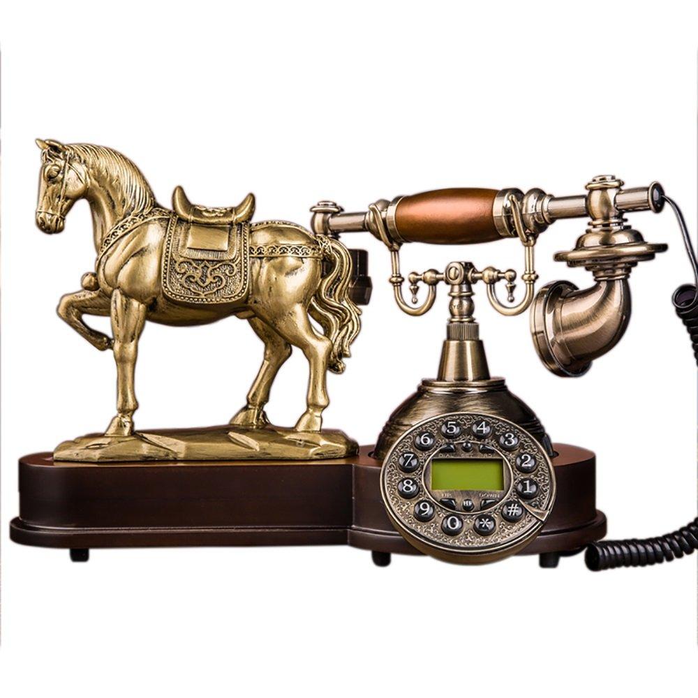Super Kh® ヨーロッパスタイルの電話レトロファッション有線電話オフィスホーム固定電話25 * 34 * 34センチメートル   B07KGQWL6Q