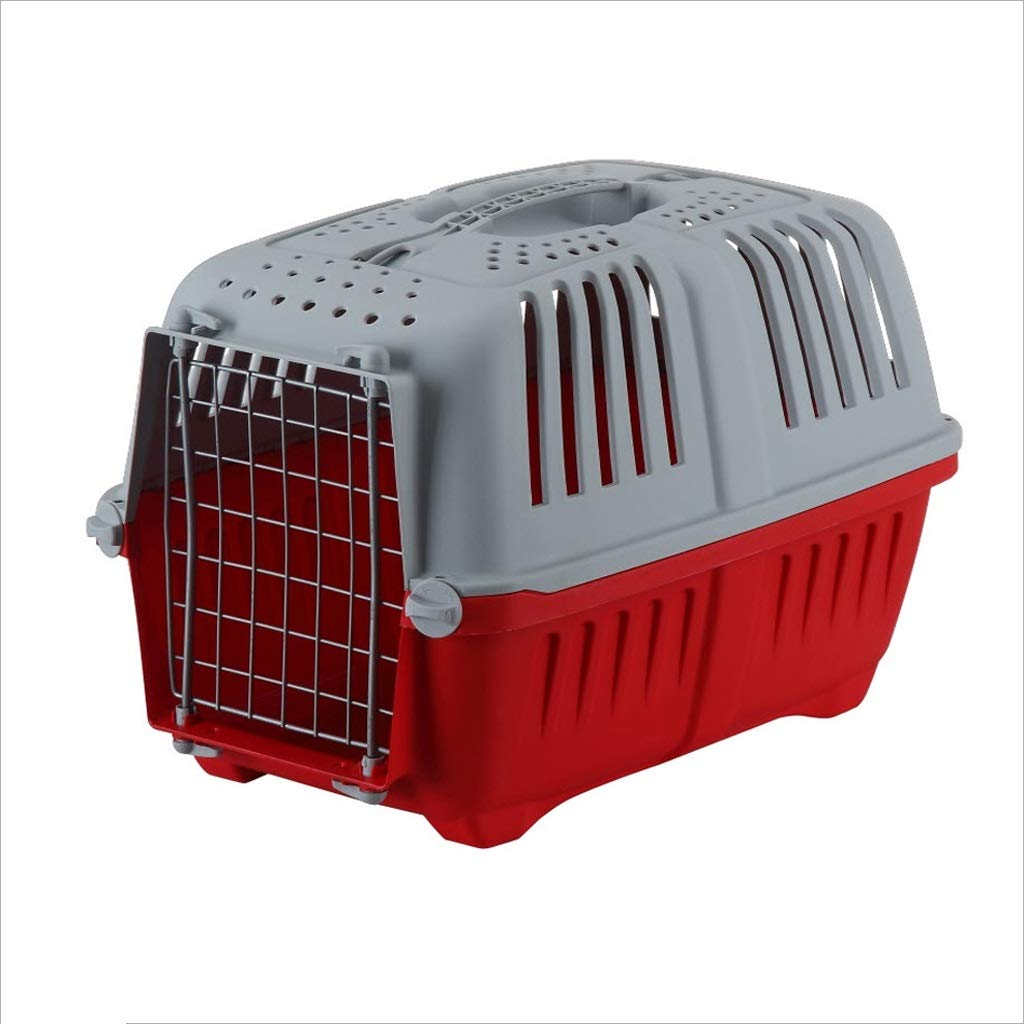 Red Dongyd Pet carrier, Large Portable Dog Cat Consignment Cage Box Rabbit Cage, 18.5x11.8x13.8 Inches,3 colors Optional (color   Green)