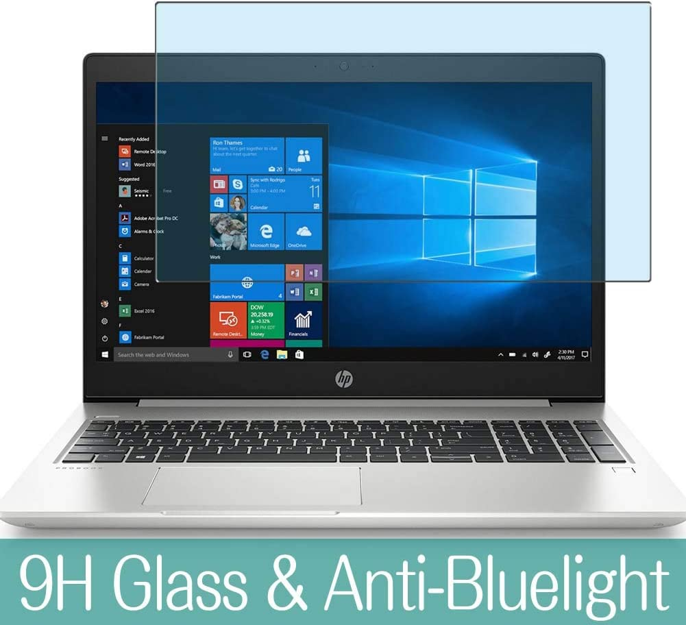"""Synvy Anti Blue Light Tempered Glass Screen Protector for HP ProBook 450 G6 CT 15.6"""" Visible Area 9H Protective Screen Film Protectors"""