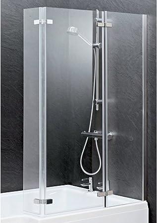 L-forma cuadrada libro con bisagra C Deluxe mampara de baño/W toallero de JL ideal para baños: Amazon.es: Hogar
