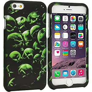 Accessory Planet(TM) Green Skulls 2D Hard Snap-On Design Rubberized Case Cover Accessory for Apple iPhone 6 Plus (5.5)