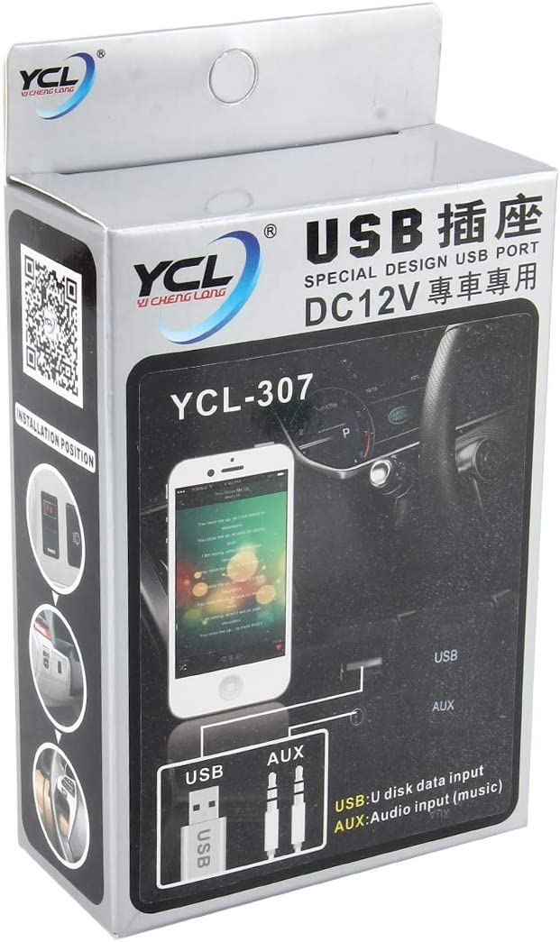 Timemall Car Charger YCL-307 One Slot Charging One Slot AUX Special Design USB Port DC 12V USB Single Charge Outlet Charging Smartphones for Toyota