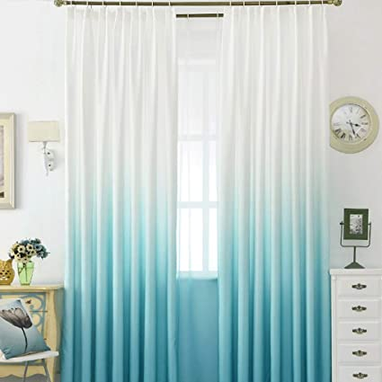 Amazon.com: Curtains Princess Style Cotton Curtain Fabric Solid ...