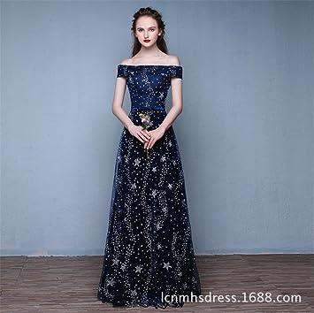 LUCKY-U Vestido de la moda de las mujeres Elegante Bata de baile Boda Formal