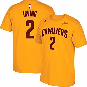 Adidas Kyrie Irving Cleveland Cavaliers NBA Hombres de Oro 2015 Final Jersey Camiseta, XL,