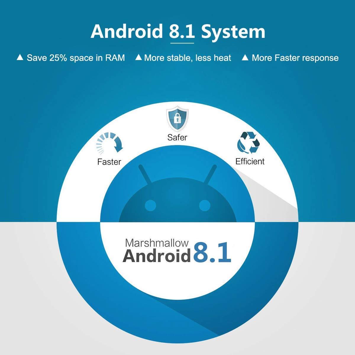 Amazon.com: T9 Android 8.1 TV Box 4GB DDR3 RAM 64GB ROM RK3328 Bluetooth 4.1 Quad-Core Cortex-A53 64 Bits Support 2.4/5.0GHz WiFi 4K 3D Ultra HD HDMI H.265: ...