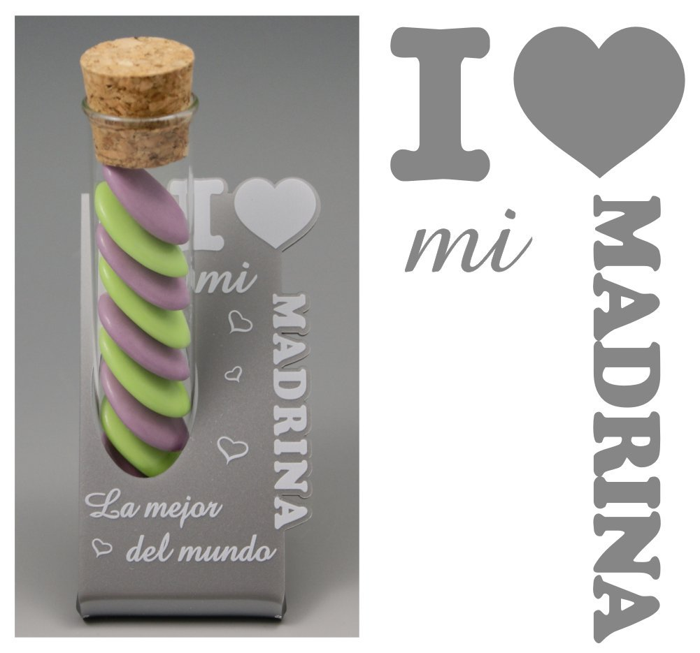 (ref.ItES-MrBlanc) 1 florero Madrina - Regalo para bautizos, Navidad, cumpleaños... Gravure Events