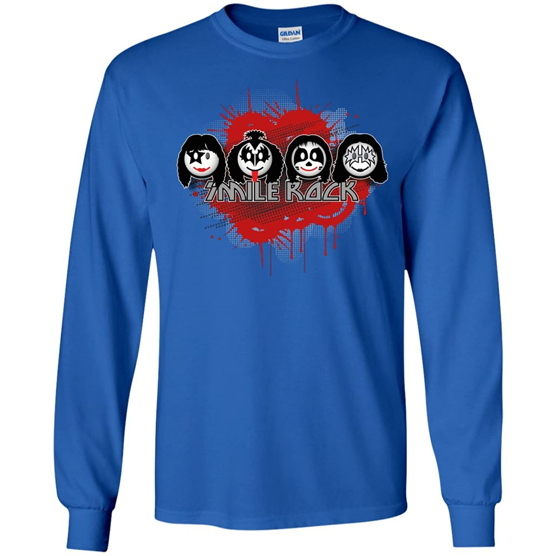 Long Sleeve Kiss Band smile rock