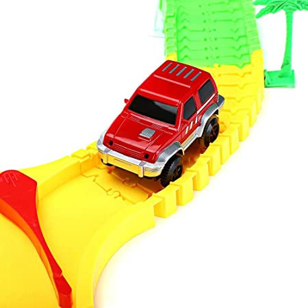 Amazon.com: Diecasts & Toy Vehicles Model Building Kits 192PCS NO.258 DIY Racing Track Assembly Flexible Twister Car Toy Electric Car Educational Toys - by ...