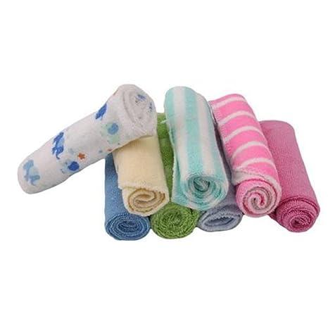 YeahiBaby 8pcs algodón suave bebé cara arandelas mano toallas baño ducha de lavado Limpie la enfermería