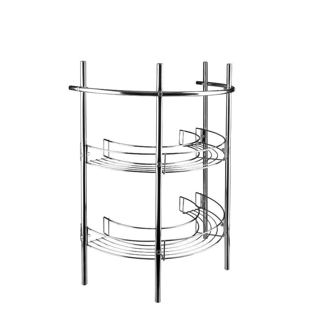 Croydex Mild Steel Pedestal Storage Unit with Shelves and Towel Rail