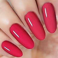 Bright Red Nail Dipping Powder (added vitamin) I.B.N Acrylic Dip Powder Colors, 1 Ounce/28g, No Need Nail Dryer Lamp Cured (DIP 046)