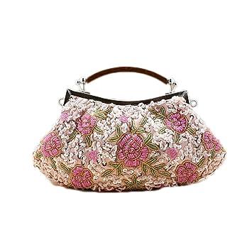 Amazon.com: Moda champaña rosa nuevo chino mujer lentejuelas ...
