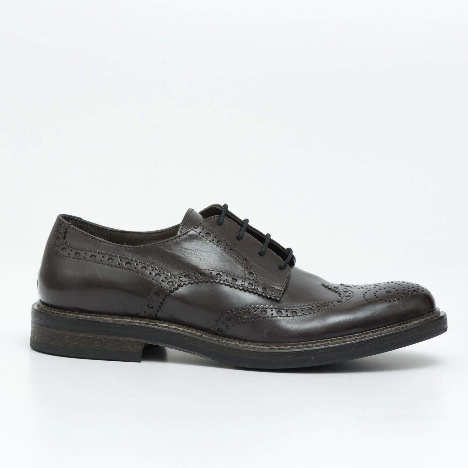 HUNDrot - Derby Full Brogue schuhe in grau Leather - M 68132 VITELLINO grau grau
