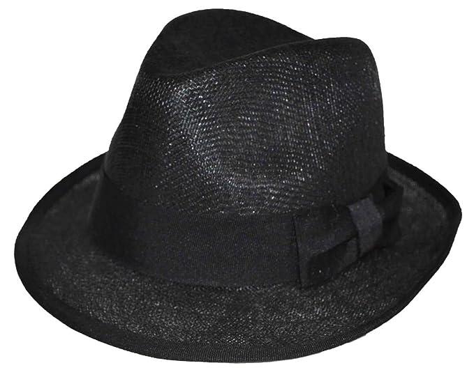 Amazon.com  MLN Linen Youth Size Fedora (Black)  Clothing 05303da8df5