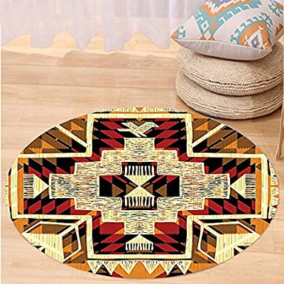 Kisscase Custom carpetArrow Decor Native American Inspired Retro Aztec Pattern Mod Graphic Design Chic Art Print Bedroom Living Room Dorm Decor Cream Merigold