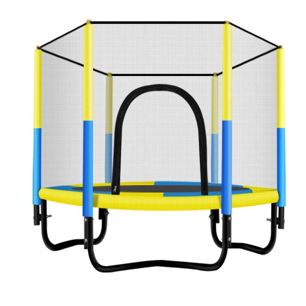 XIAOMEI,ベッドフェンス 安全網の子供のためのトランポリンの網のトランポリンはハンドルが付いている子供の小型トランポリンを作る袋を運びます 家庭、屋外で使用されます (Color : Yellow)  Yellow B07SYNK7HG