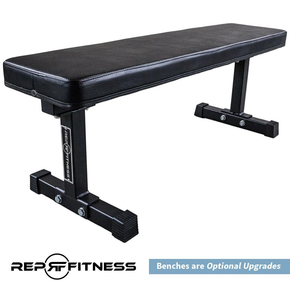 Rep Squat Rack with Pull Up Bar and Flat Bench - 110 in by Rep Fitness (Image #6)