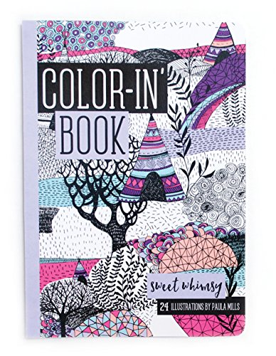 International Arrivals Color-In' Book, Travel Size, Sweet Whimsy, 24 Pages (118-168)