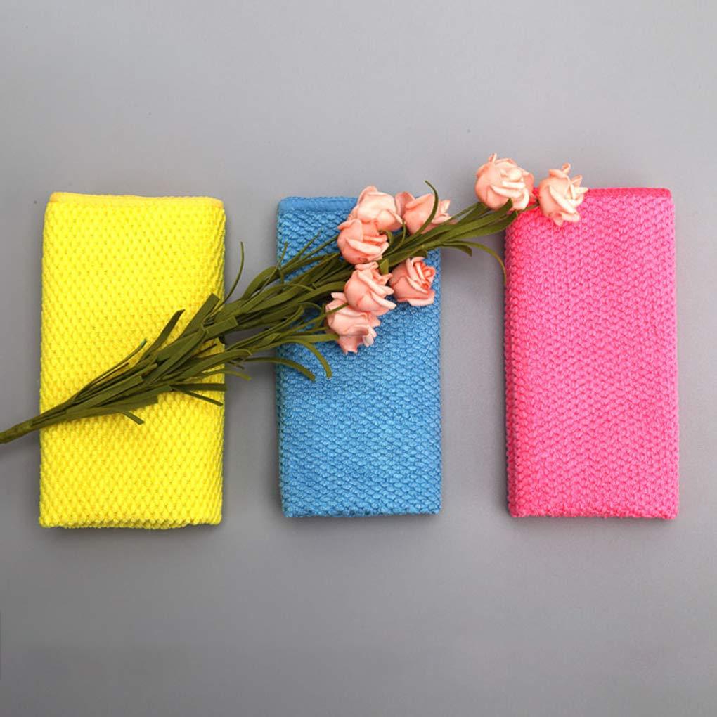 fgyhtyjuu Toalla 3PCS Color al Azar Espesar Cocina Tazón de Microfibra paño de Limpieza del hogar Tabla de Cristal de Tela Lavada: Amazon.es: Hogar
