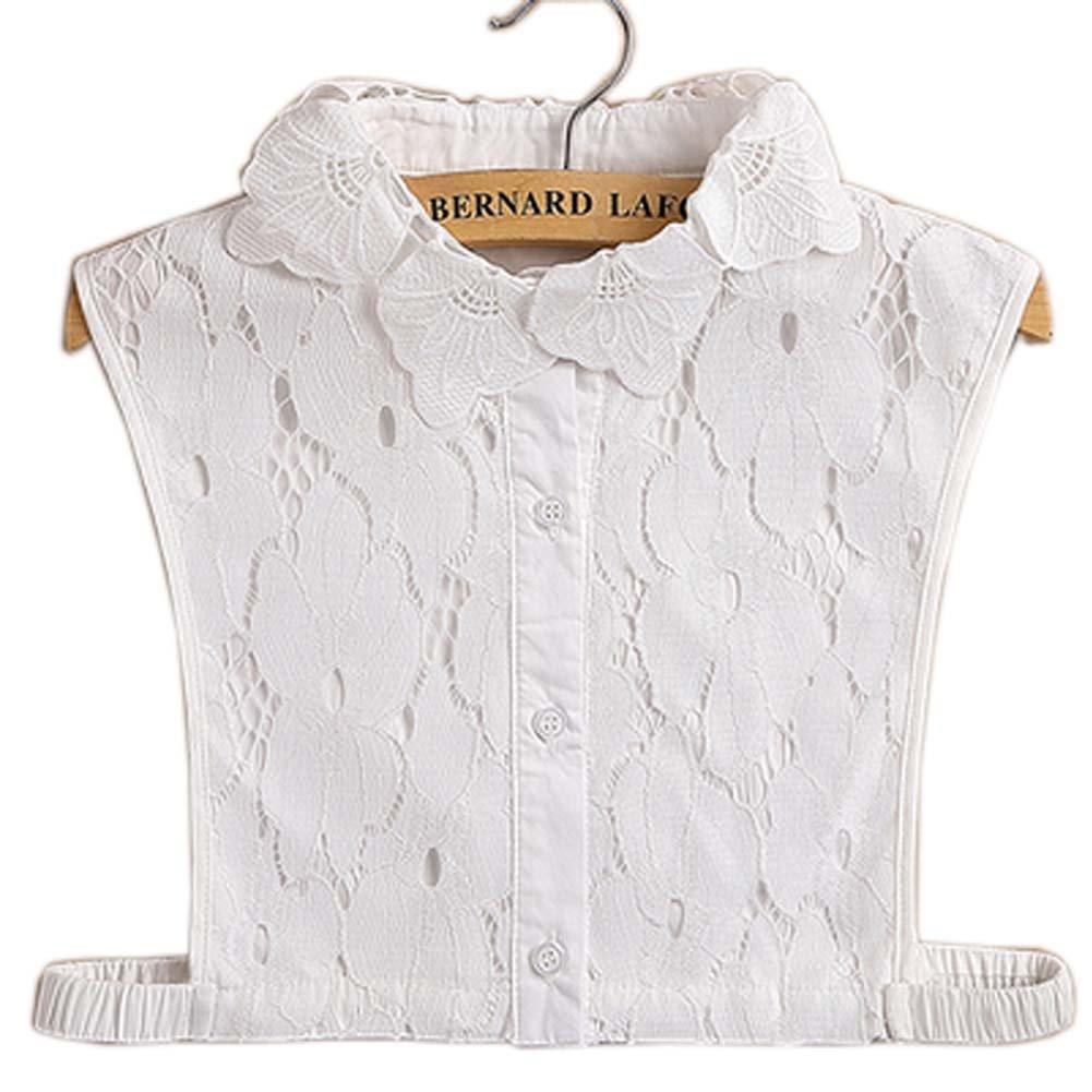 Black Temptation Einfache stilvolle abnehmbare Kragen Fake Shirt Kragen Allzweck Zubehö r fü r Frauen, H GJ-CLO2368383011-HERMINE01757