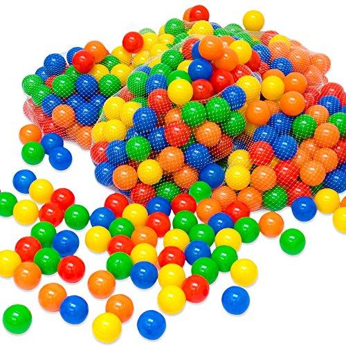 Little Tomm 100x Multi Colored Plastic Balls for Kids Ball Pit | Play Balls for Children 6,0 cm